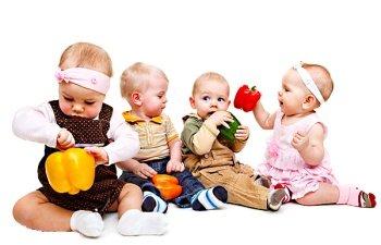 четверо детей, 4 детей, малыш, младенец