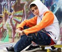 мальчик, ребенок, скейт, в капюшоне, 10, десять лет