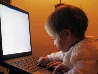 ребенок, малыш, компьютер, интернет, ноутбук