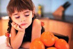 атопический, дерматит, аллергия, девочка, ребенок, апельсин