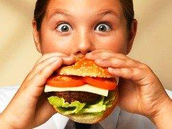 лишний вес, ожирение, ребенок, еда, фастфуд