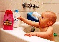 волосы, ребенок, малыш, уход, мыть,шампунь, сушить, ванна