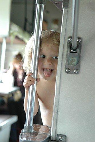 В поезде с малышом