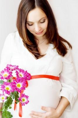 Красивые волосы у будущей мамы