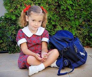 Домашний ребенок идет в первый класс